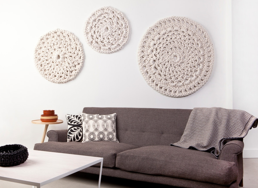 Crochet Motifs As Wall Art–Yes Yes!! When Someone Finds Out What Pertaining To Crochet Wall Art (Image 5 of 10)