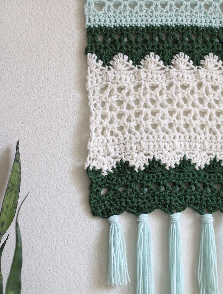 Crochet Wall Hanging Pattern – Persia Lou Pertaining To Crochet Wall Art (Image 8 of 10)
