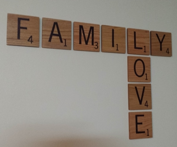 Custom Scrabble Tile Wall Art Pertaining To Scrabble Wall Art (Image 2 of 10)