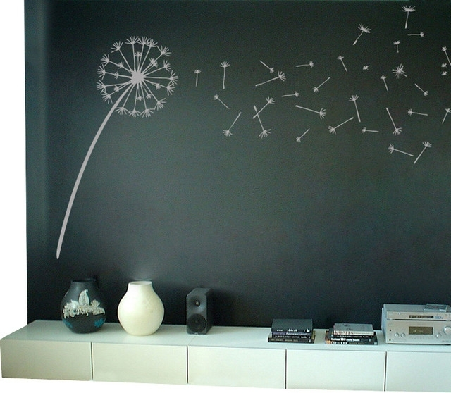 Dandelion Blowing In The Wind Wall Decal – Contemporary – Wall In Dandelion Wall Art (Image 1 of 10)