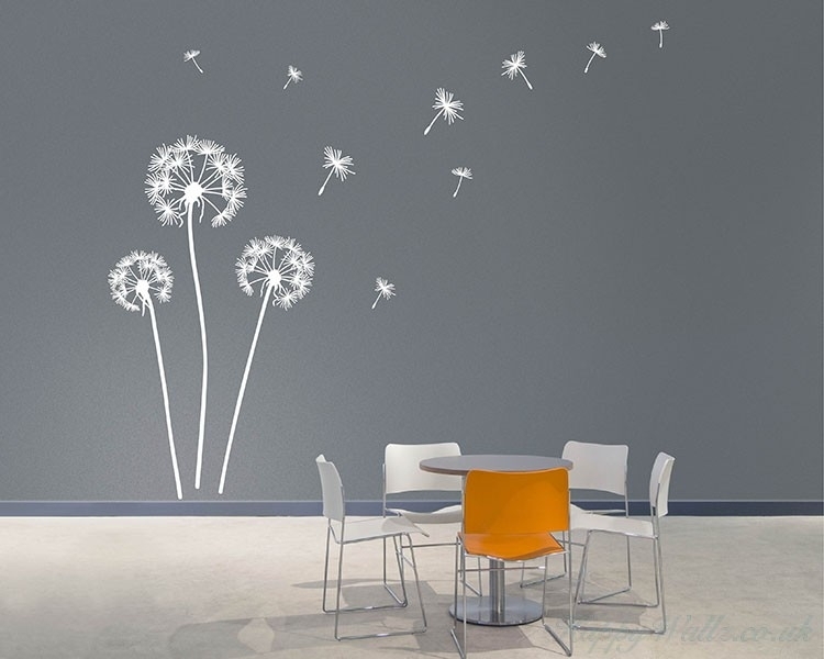 Dandelion Wall Art Decals Pertaining To Wall Art Decals (Photo 7 of 10)