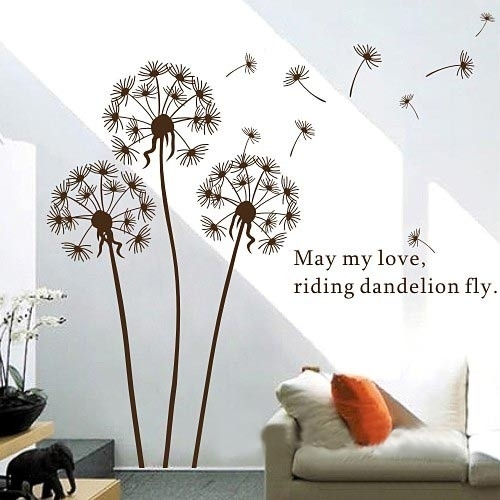 Dandelion Wall Art Sticker Intended For Dandelion Wall Art (Image 3 of 10)