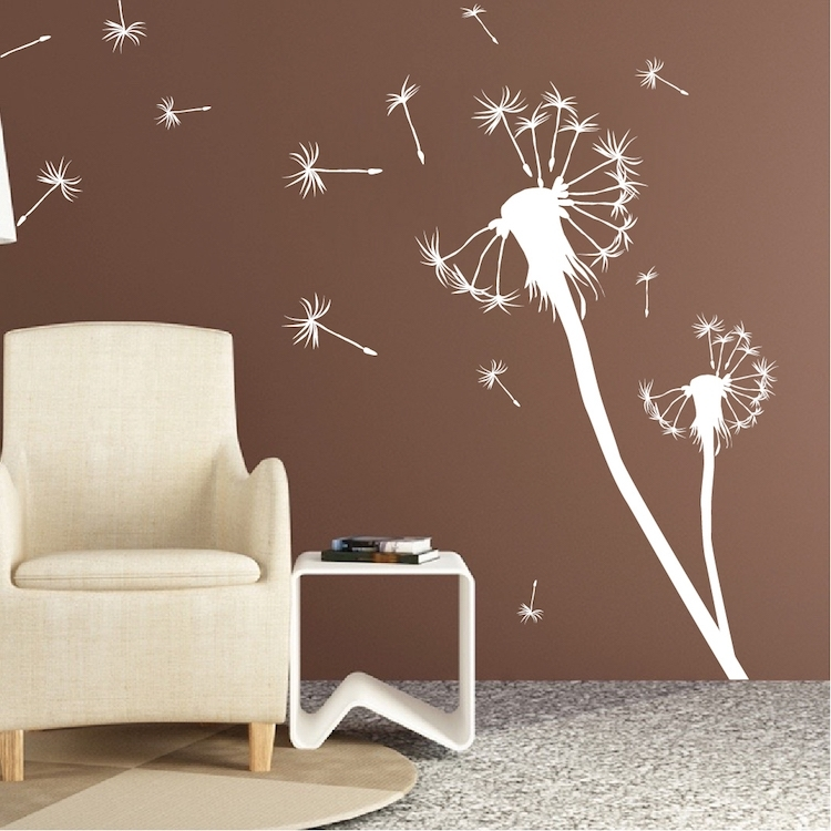 Dandelion Wall Decal Unique Dandelion Wall Decal – Wall Decoration Ideas Intended For Dandelion Wall Art (Image 4 of 10)