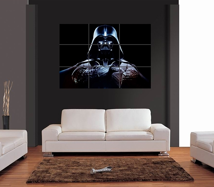 Darth Vader Folded Arms Vector Giant Wall Art Print Picture Poster Inside Darth Vader Wall Art (Image 1 of 10)