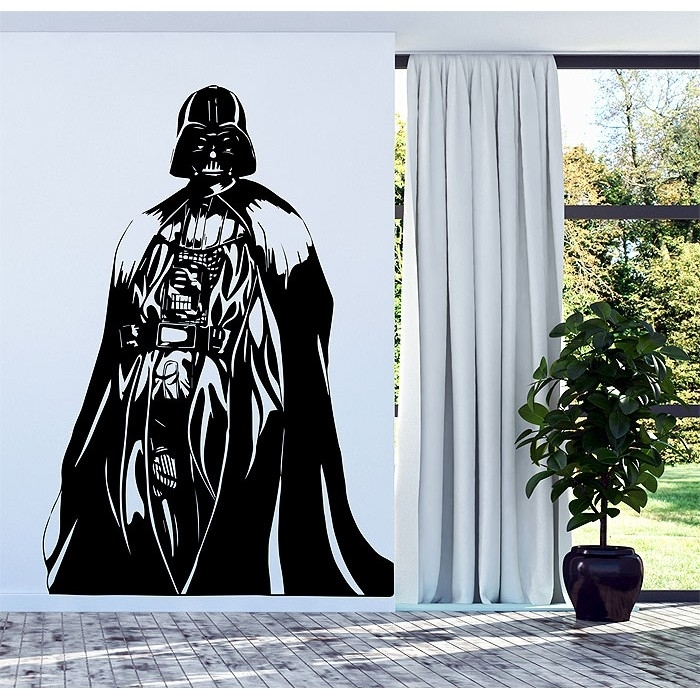 Darth Vader Star Wars Vinyl Wall Decal In Darth Vader Wall Art (Image 2 of 10)