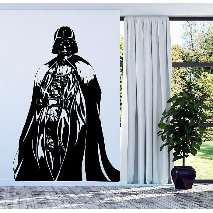 Darth Vader Star Wars Vinyl Wall Decal In Darth Vader Wall Art (View 4 of 10)