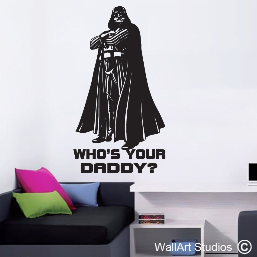 Darth Vader Whos Your Daddy | Wall Art Studios Throughout Darth Vader Wall Art (Image 3 of 10)