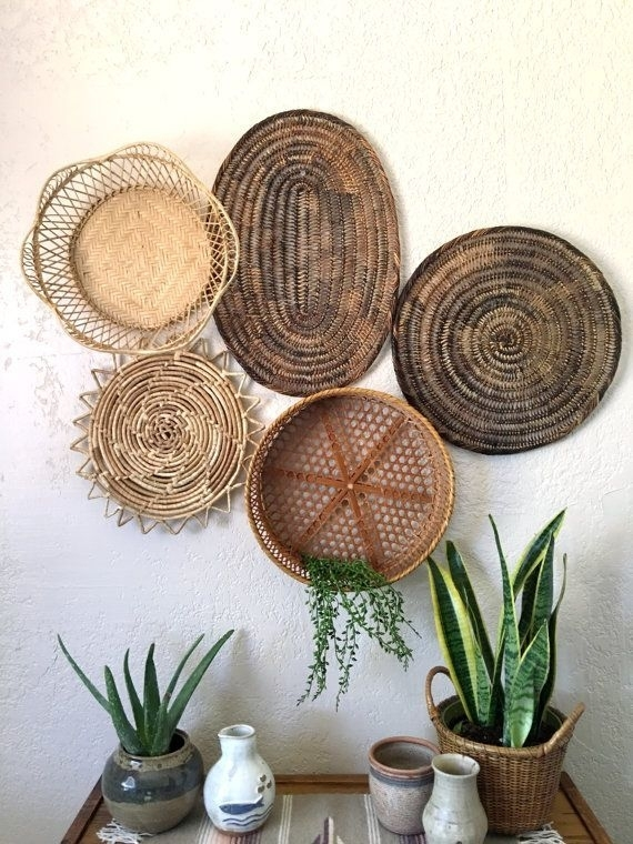 Deco Murale | Mexico | Pinterest | Round Basket, Wall Décor And In Woven Basket Wall Art (View 4 of 10)