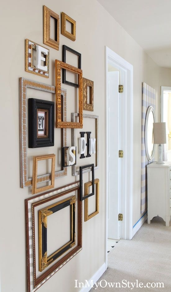 Decorating With Frames | Diy Wall Art | Pinterest | Empty Frames Within Cheap Framed Wall Art (Image 5 of 10)