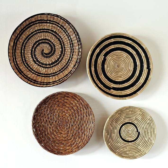 Decorative Baskets To Hang On Wall Decorative Basket Wall Art Set Of With Woven Basket Wall Art (Photo 2 of 10)