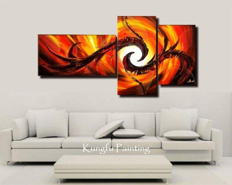 Delighful Wall To 3 Panel Wall Art – Levitrafer With Panel Wall Art (Image 7 of 10)