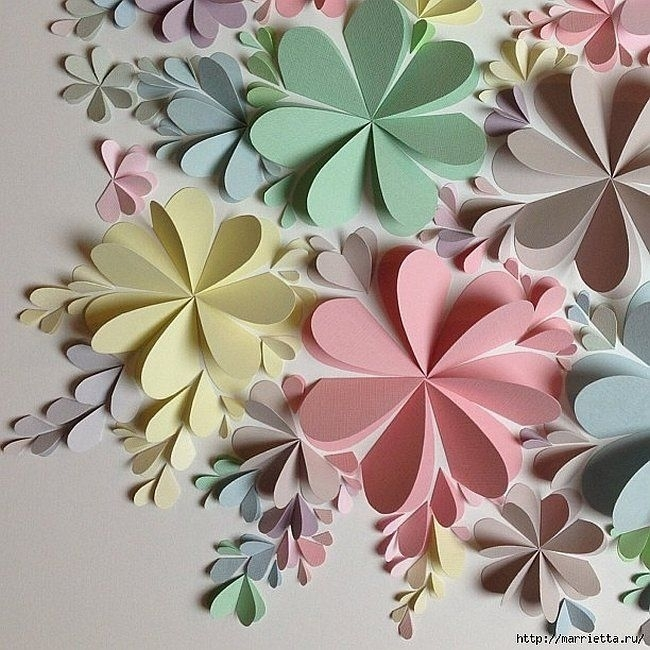 Delightful Diy Paper Flower Wall Art – Free Guide And Templates Regarding Paper Wall Art (Image 1 of 10)