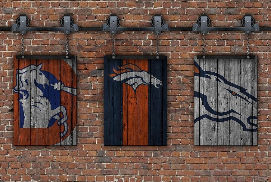 Denver Broncos Brick Wall Photographjoe Hamilton With Broncos Wall Art (Photo 6 of 10)