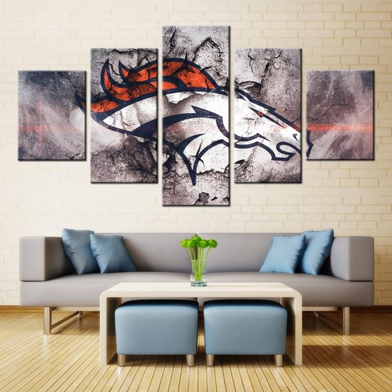 10 Best Collection Of Broncos Wall Art