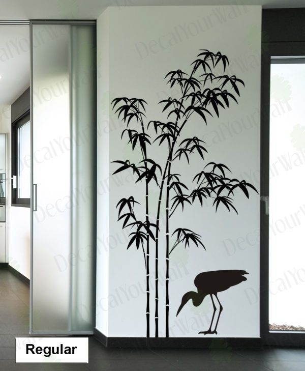 Details About Bamboo Wall Decal Tree Wall Stickers Living Room Throughout Bamboo Wall Art (Photo 6 of 10)