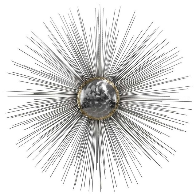 Dimond Home 153 007 Silver Sun Metal Wall Decor – Midcentury – Metal Throughout Silver Metal Wall Art (Image 4 of 10)