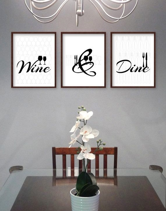 Dining Room Wall Art – Dining Room Art – Kitchen Prints – Kitchen Within Dining Room Wall Art (Image 5 of 10)
