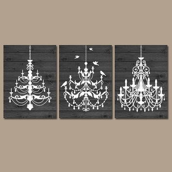 Distressed Chandelier Canvas Art Print – Chatta Artprints With Chandelier Wall Art (Image 5 of 10)