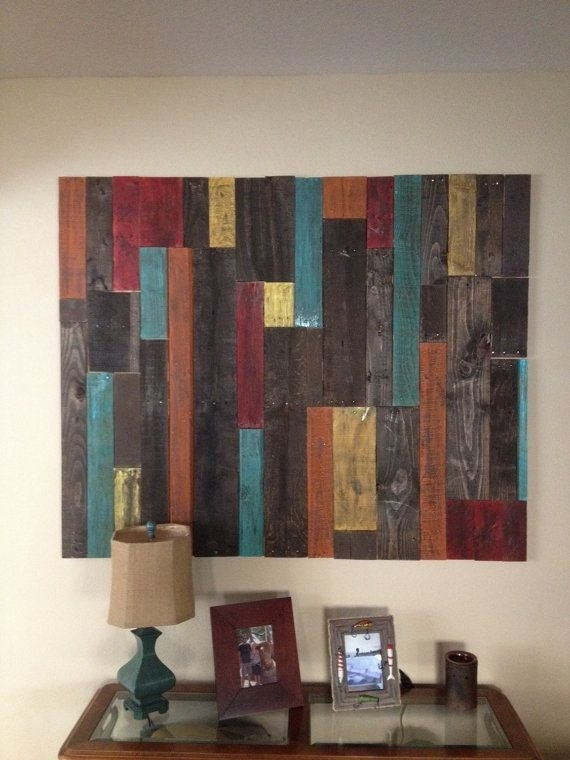 Distressed Pallet Wall Art Decor | Crafts Diy | Pinterest | Pallet Throughout Pallet Wall Art (Image 6 of 10)