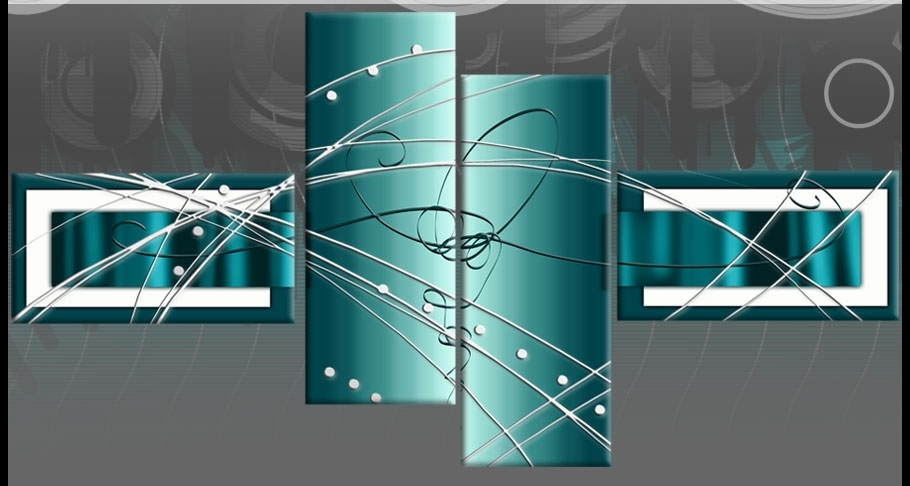 Diverting Teal Canvas Wall Art | Bargainfindsonebay Throughout Teal Wall Art (Image 1 of 10)