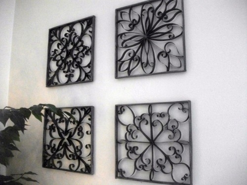 Diy Faux Wrought Iron Wall Art – Shelterness Regarding Wrought Iron Wall Art (View 8 of 10)