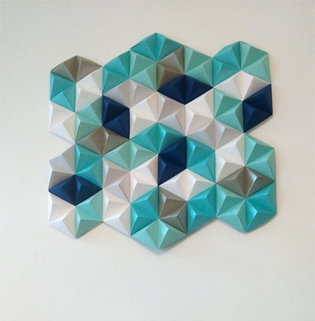 Diy: Geometric Paper Wall Art – Jam Blog Within Paper Wall Art (Image 4 of 10)