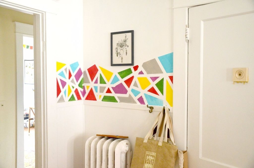 Diy Geometric Wall Art Home Decor With Geometric Wall Art (Image 1 of 10)