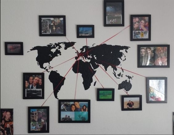 Diy Ideas & Inspirations From Hobby Lobby | Othrrr | Pinterest Within Map Of The World Wall Art (Image 3 of 10)