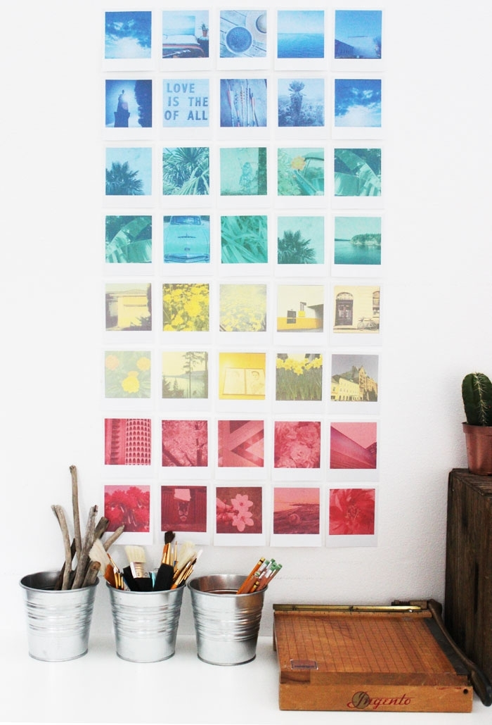 Diy Instagram Polaroid Wall Art – Free Printable | Poppytalk Regarding Instagram Wall Art (Photo 10 of 10)