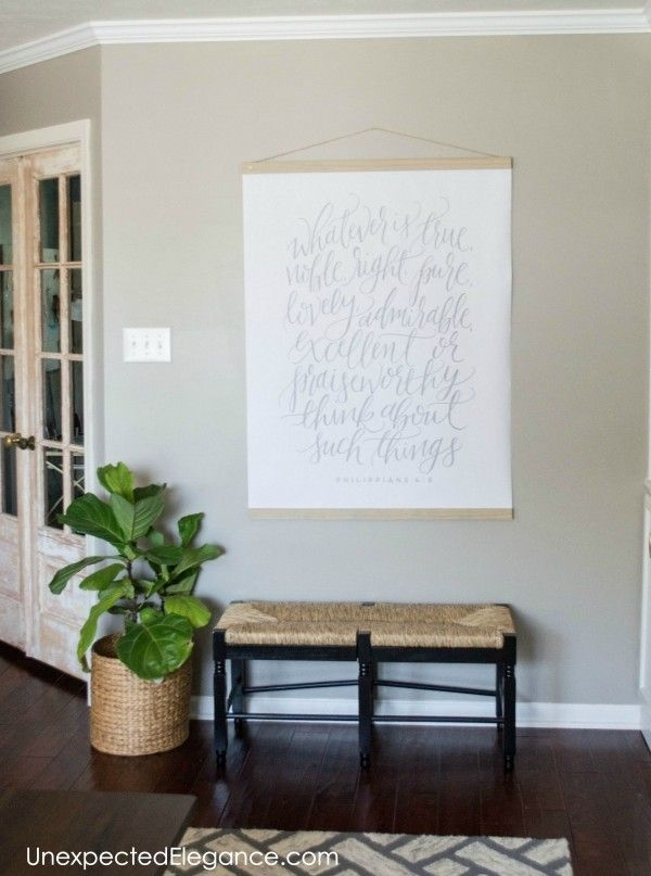 Diy Large Wall Art For Less Than $20 | Entryways | Pinterest | Art Inside Large Wall Art (View 4 of 10)