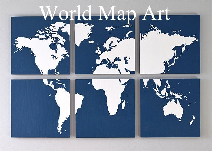 Diy Map Art For The Wall – Throughout Diy World Map Wall Art (Image 3 of 10)