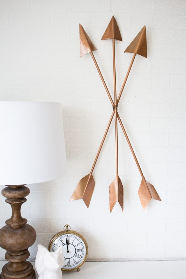 Diy Modern Arrow Wall Art | Ehow Throughout Arrow Wall Art (Image 7 of 10)