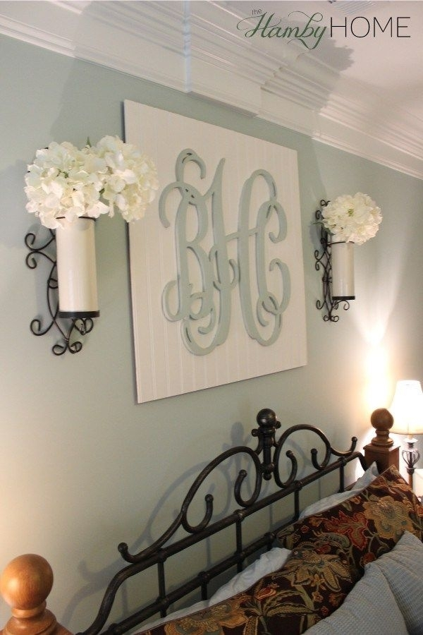Diy Monogram Wall Art | The Hamby Home | Can Do Pinners | Pinterest Regarding Monogram Wall Art (Photo 6 of 10)