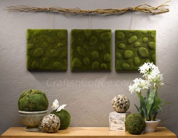 Diy Moss Wall Art | Diy | Pinterest | Moss Wall Art, Moss Wall And Walls Throughout Moss Wall Art (Image 2 of 10)