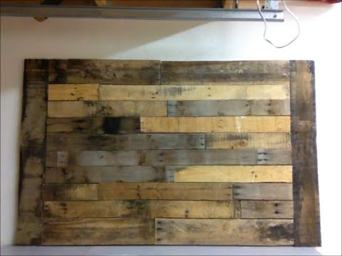 Diy : Pallet Wood Wall Art Frame Decor Shabby Chic – Youtube Inside Plank Wall Art (View 5 of 10)