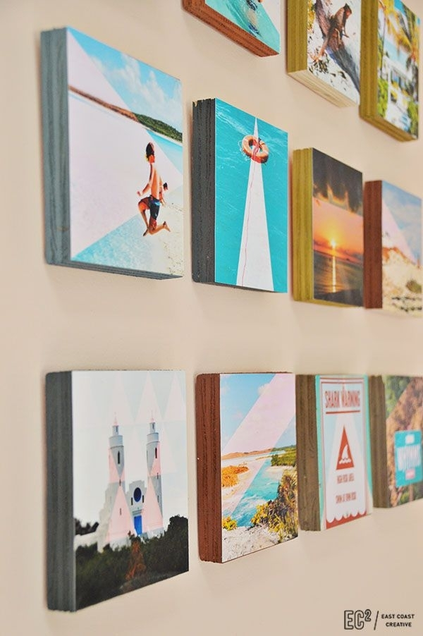 Diy Wood Block Instagram Wall Art | The Top Pinned | Pinterest With Instagram Wall Art (Photo 1 of 10)
