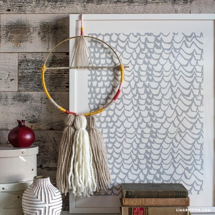 Diy Yarn Wall Hanging – Lia Griffith For Yarn Wall Art (Image 3 of 10)