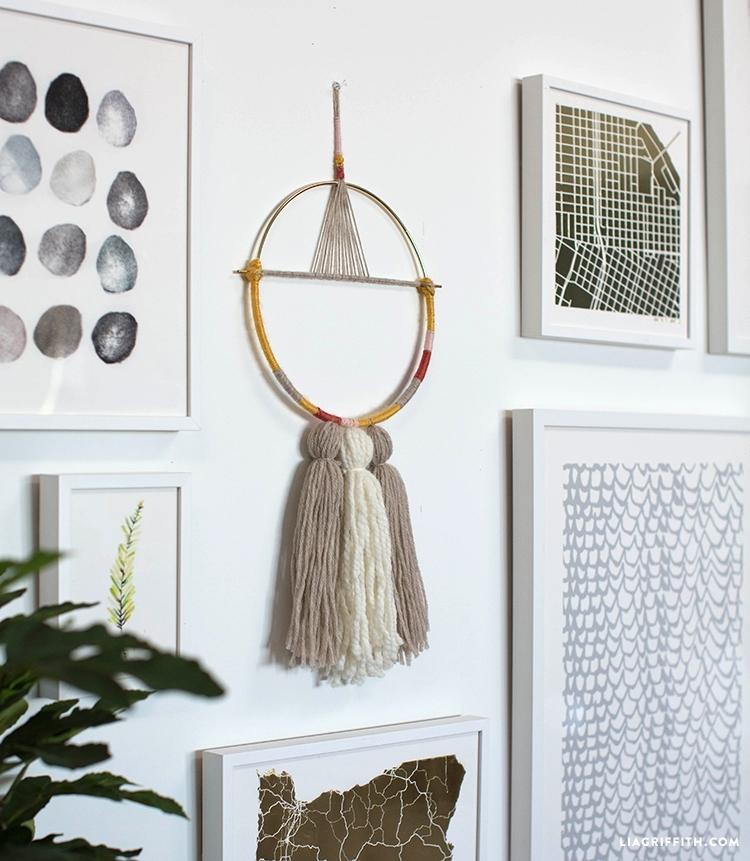 Diy Yarn Wall Hanging – Lia Griffith Regarding Yarn Wall Art (Image 4 of 10)