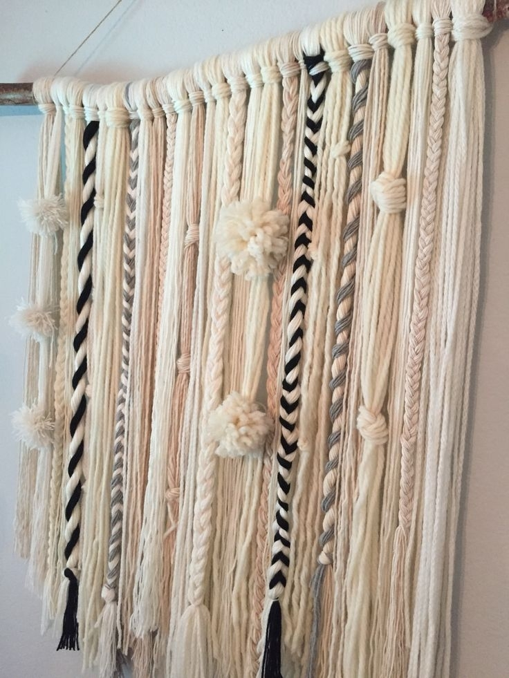 Diy Yarn Wall Hanging … | My Creations | Pinterest | Yarn Wall With Yarn Wall Art (Photo 4 of 10)