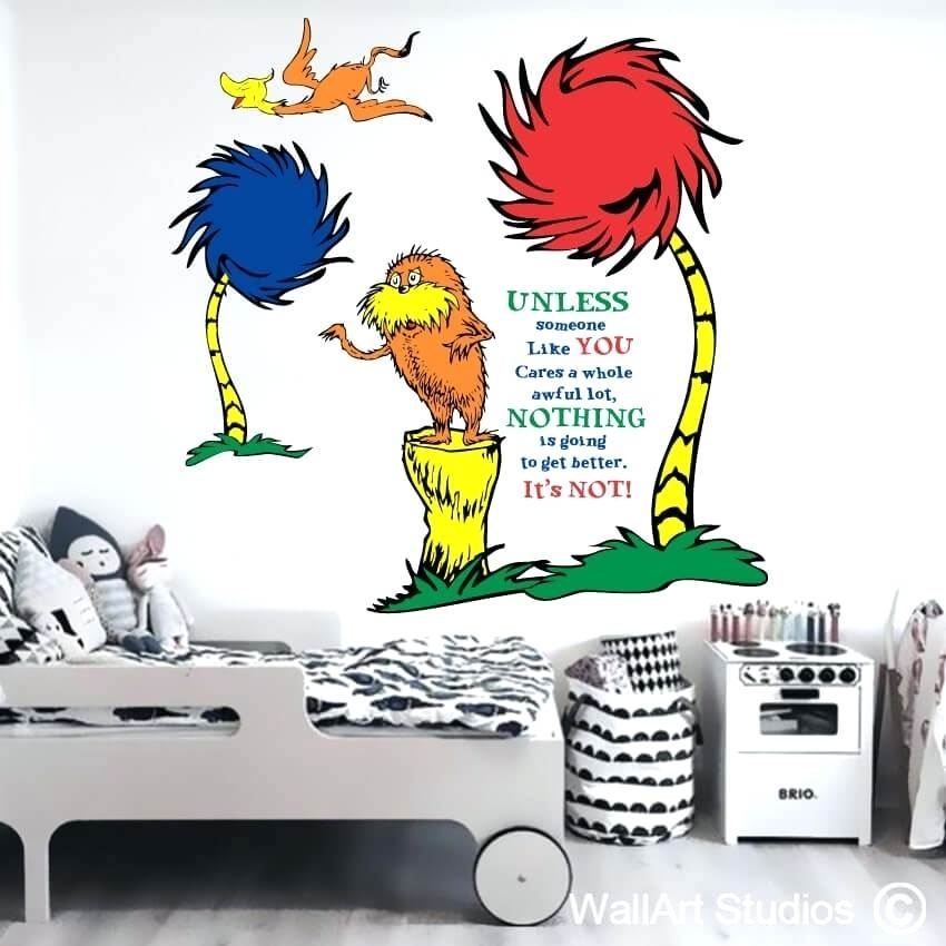 Dr Seuss Wall Decals The Wall Sticker Dr Seuss Wall Decals The More In Dr Seuss Wall Art (Image 4 of 10)