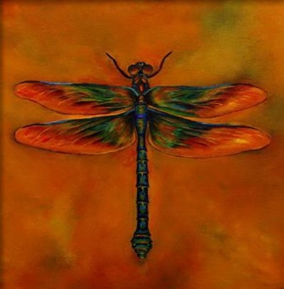 Dragonfly I Animal Oil Painting Wall Art Modern Canvas Art Wall Within Dragonfly Painting Wall Art (Photo 2 of 10)