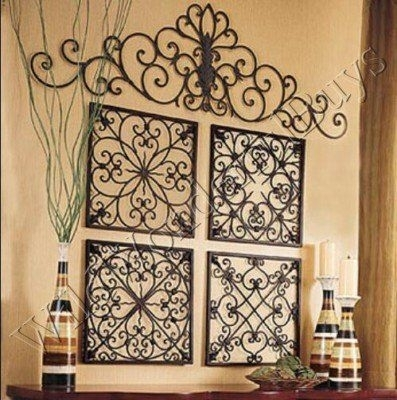 Easy Diy Iron Wall Art! | Yard/shed | Pinterest | Iron Wall, Wrought Regarding Wrought Iron Wall Art (Image 3 of 10)