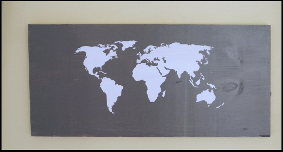 Easy Diy World Map Wall Art For Diy World Map Wall Art (Image 8 of 10)