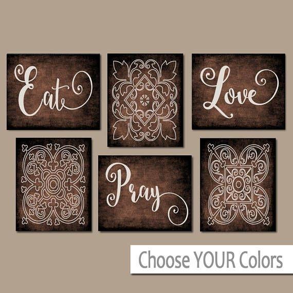Eat Pray Love Kitchen Wall Art, Kitchen Canvas Or Prints, Dining Inside Kitchen Canvas Wall Art Decors (Image 4 of 10)