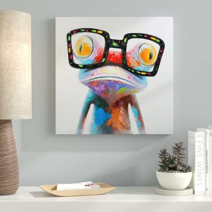 Ebern Designs 'amazing Gecko' Painting On Canvas & Reviews | Wayfair.ca Inside Gecko Canvas Wall Art (Photo 6 of 10)