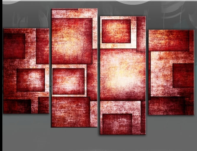 Elegance Design For Inspirational Red Wall Art – Wall Decoration Ideas With Regard To Red Wall Art (Image 4 of 10)