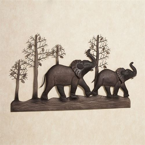 Elephant Metal Wall Art In Elephant Wall Art (Image 5 of 10)