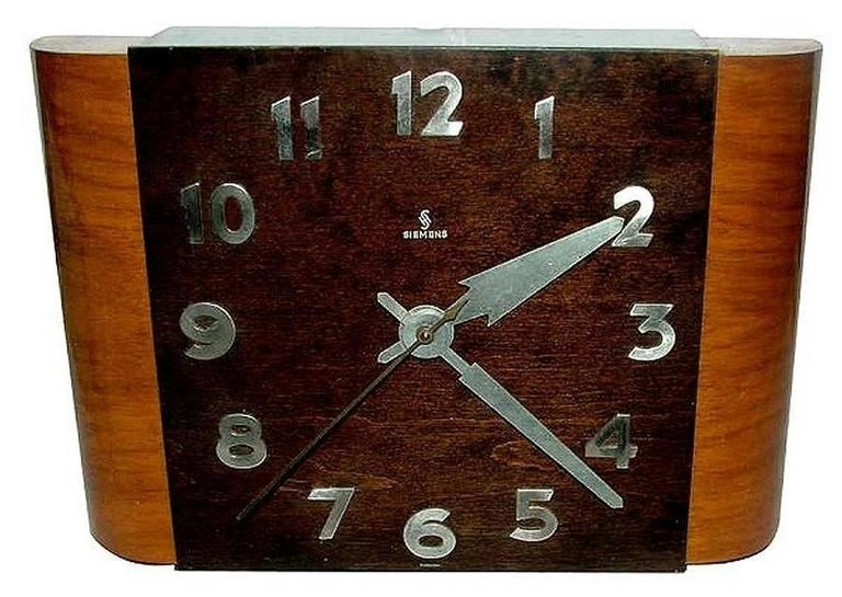 English 1930S Art Deco Wall Clocksiemens At 1Stdibs For Art Deco Wall Clock (Image 7 of 10)
