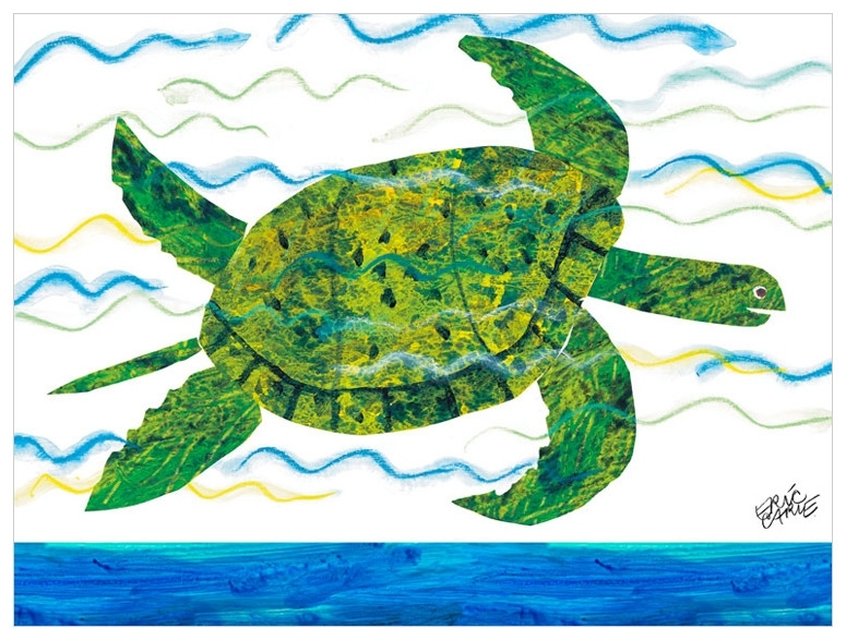 Eric Carle's Sea Turtle, Eric Carle Canvas Wall Art | Oopsy Daisy Pertaining To Sea Turtle Canvas Wall Art (Photo 9 of 10)