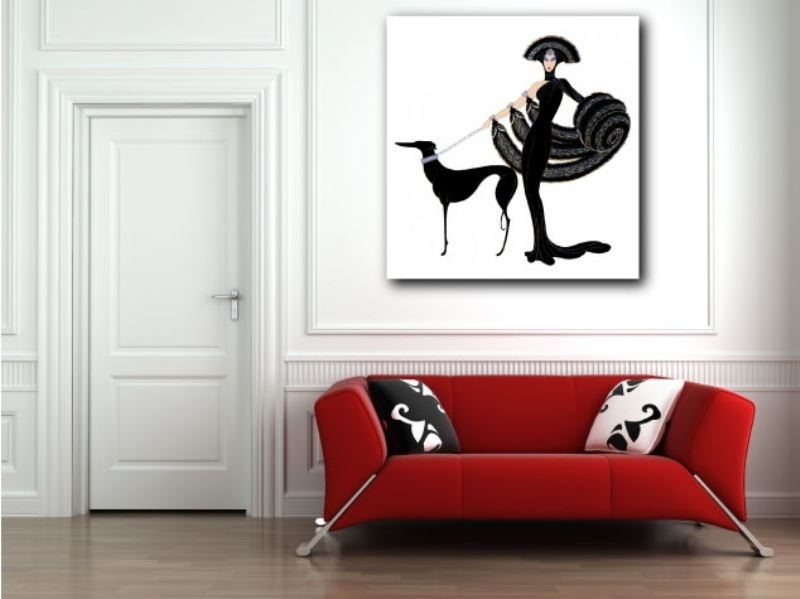 Erte Art Deco Canvas Giclee Art Print Home Wall Decor Regarding Art Deco Wall Art (View 6 of 10)